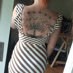 Zara Dresses - Zara Size M Metallic Striped Midi Dress